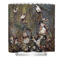 Shower Curtain featuring the painting Autumn Leaves by Joanne Smoley