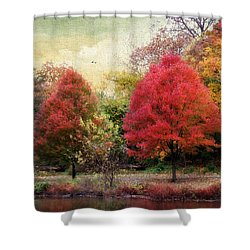 Autumn's Canvas Shower Curtain by Jessica Jenney