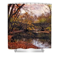 Autumn's Ending Shower Curtain by Jessica Jenney