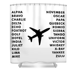 Aviation Code Shower Curtain
