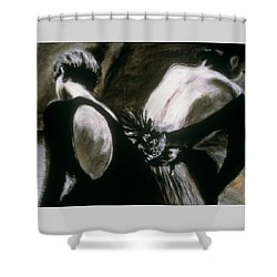 2 Ballerinas Shower Curtain