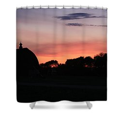 Barn Sunset Shower Curtain