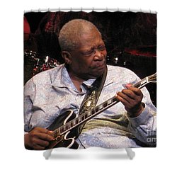 B.b. King Shower Curtain by April Sims