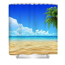 Beach Collection Shower Curtain by Marvin Blaine