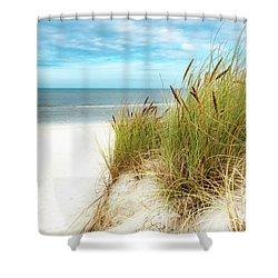 Shower Curtain featuring the photograph Beach Grass by Hannes Cmarits