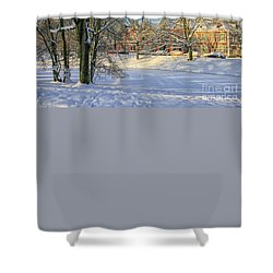 Beautiful Park In Winter With Snow Shower Curtain