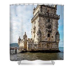 Belem Tower Shower Curtain
