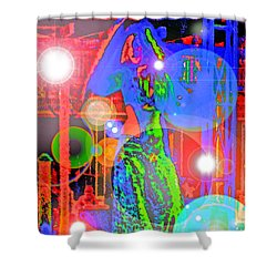 Belly Dance Shower Curtain by Andy Za