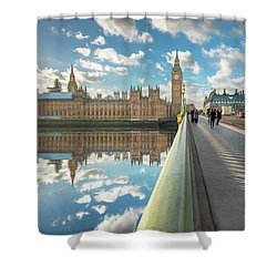 Shower Curtain featuring the photograph Big Ben London by Adrian Evans