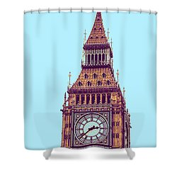 Big Ben Tower, London  Shower Curtain by Asar Studios