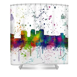 Birmingham Alabama Skyline Shower Curtain
