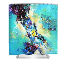 Blue Harmony Shower Curtain