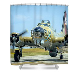 Boeing B-17g Flying Fortress   Shower Curtain