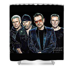 Bono U2 Collection Shower Curtain