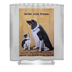 Border Collie Wisdom Shower Curtain
