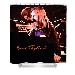 Shower Curtain featuring the photograph Grateful Dead - Brent Mydland  by Susan Carella