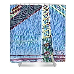 Bridge At Guerneville Shower Curtain
