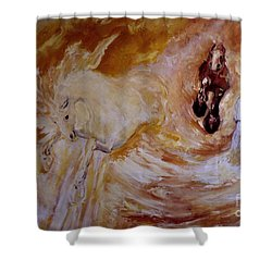 Bringers Of The Dawn Section Of Mural Shower Curtain