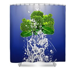 Broccoli Splash Shower Curtain