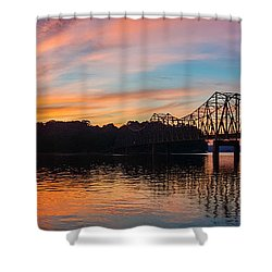 Browns Bridge Sunset Shower Curtain