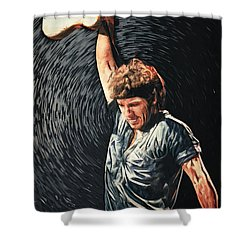 Bruce Springsteen Shower Curtain by Taylan Apukovska