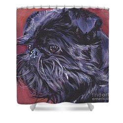 Brussels Griffon Shower Curtain by Lee Ann Shepard