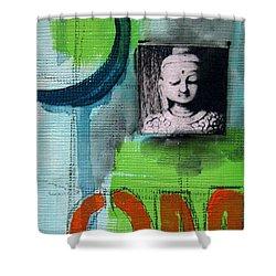 Buddha Shower Curtain by Linda Woods