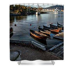 Bygdoy Harbor Shower Curtain