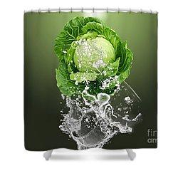 Cabbage Splash Shower Curtain