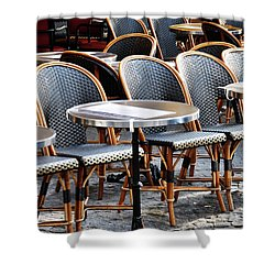 Cafe Terrace In Paris Shower Curtain
