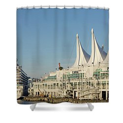 Canada Place Shower Curtain by Ross G Strachan