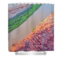 Canyon Of Colorado River - Sunrise Aerial View Shower Curtain