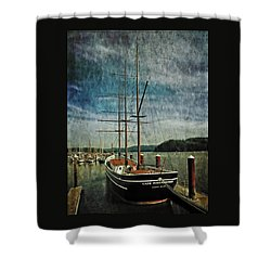 Cape Foulweather Tall Ship Shower Curtain by Thom Zehrfeld