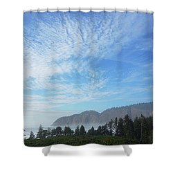 Cape Lookout Shower Curtain by Angi Parks