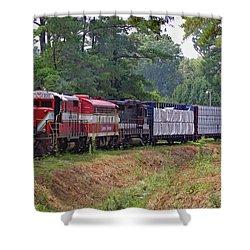 Carolina Southern Railroad Shower Curtain