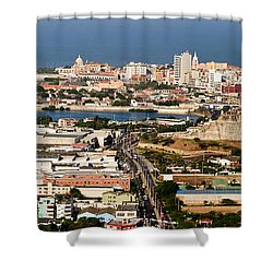 Cartegena Colombia Shower Curtain by Thomas Marchessault
