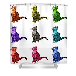 Cat Art - 3771 Bb Shower Curtain by James Ahn