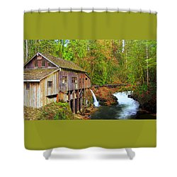 Cedar Creek Grist Mill Shower Curtain by Steve Warnstaff
