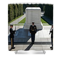 Shower Curtain featuring the photograph Changing Of Guard At Arlington National by Terry Moore