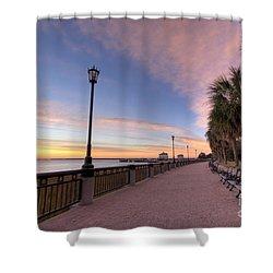 Charleston Waterfront Park Sunrise  Shower Curtain