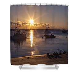 Shower Curtain featuring the photograph Chatham Sunrise by Charles Harden