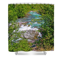 Shower Curtain featuring the photograph Cheakamus River by Sharon Talson