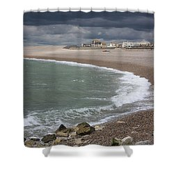 Chesil Cove  Shower Curtain