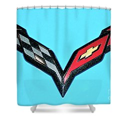 Chevy Emblem Shower Curtain