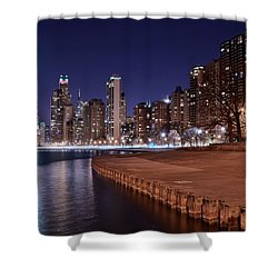 Chicago From The North Shower Curtain by Frozen in Time Fine Art Photography