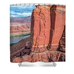 Chicken Corner Trail And Colorado River Shower Curtain