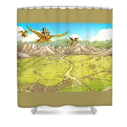 Chiricahua Mountains Shower Curtain by Reynold Jay