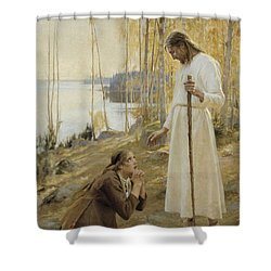 Christ And Mary Magdalene Shower Curtain