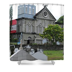 Shower Curtain featuring the photograph Church by Gary Wonning