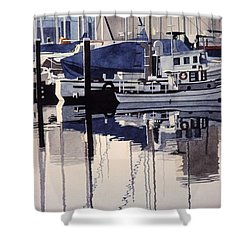 City Mooring Shower Curtain